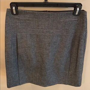 Express Gray Midi Pencil Skirt Size 2